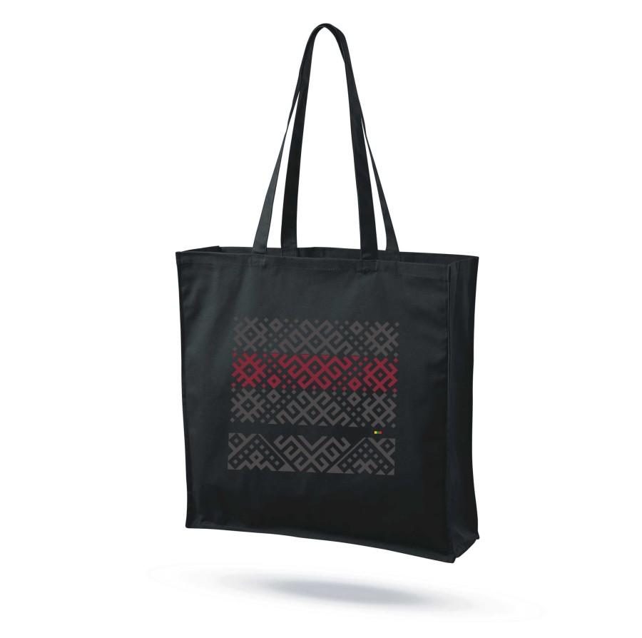 """Medvilninis maišelis su praplatėjimu """"Audimo raštai 4"""""""