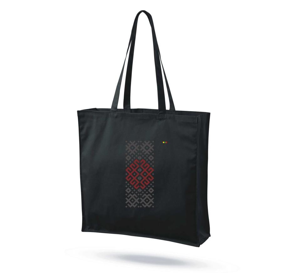 """Medvilninis maišelis su praplatėjimu """"Audimo raštai 5"""""""